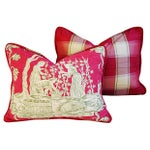 Image of Italian Scalamandre Wine Growers Pillows - a Pair