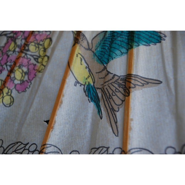 Vintage Asian Rice Paper Floral Umbrella - Image 10 of 10