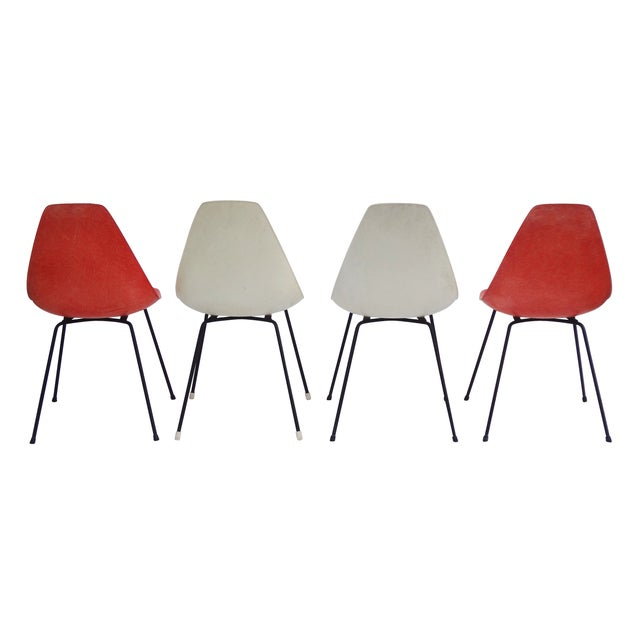 Vintage 1960s Fiberglass Shell Chairs - Set of 4 - Image 7 of 9