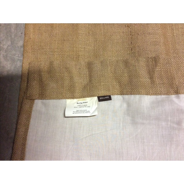 Image of Ballard Lined Burlap Fringed Drapes- A Pair