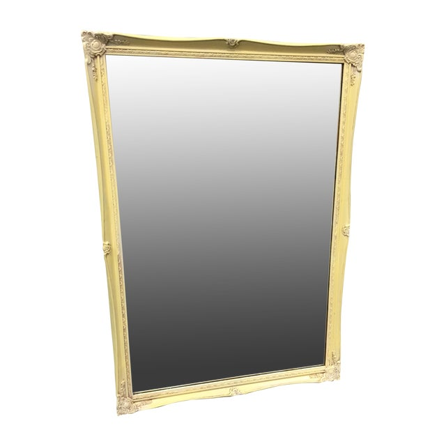 Image of Shabby Chic Square Mirror - Yellow