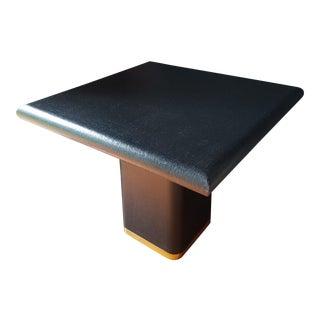 Modern Lacquered Linen Table After Karl Springer