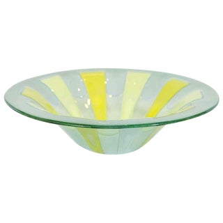 Fused Art Glass Bowl by Michael and Frances Higgins
