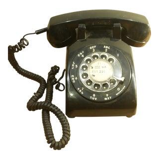 Stromberg Carlson S-C 500 D 1977 Black Rotary Dial Desk Phone