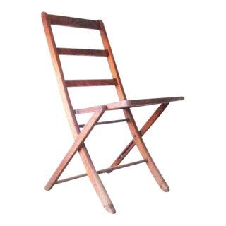 Vintage Wood Jackson Folding Chair