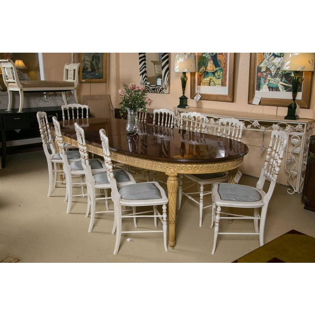 Louis XVI Style Dining Table, Manner of Jansen - Image 2 of 10