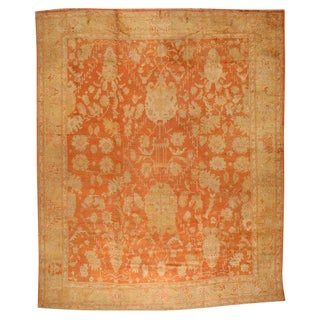 Antique 19th Century Oushak Carpet