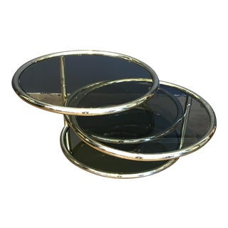 Milo Baughman Style Brass Table
