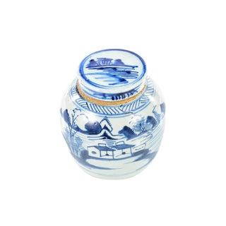 Antique Chinese Blue & White Jar