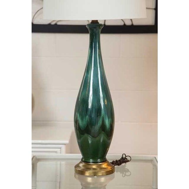 Mid-Century Ceramic Lamps - a Pair - Image 5 of 5