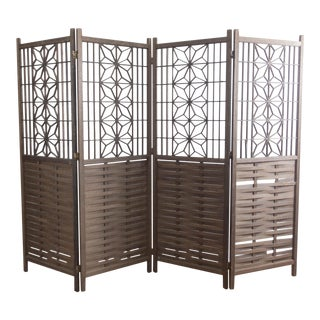 Vintage Wooden Japanese Shinto Screen