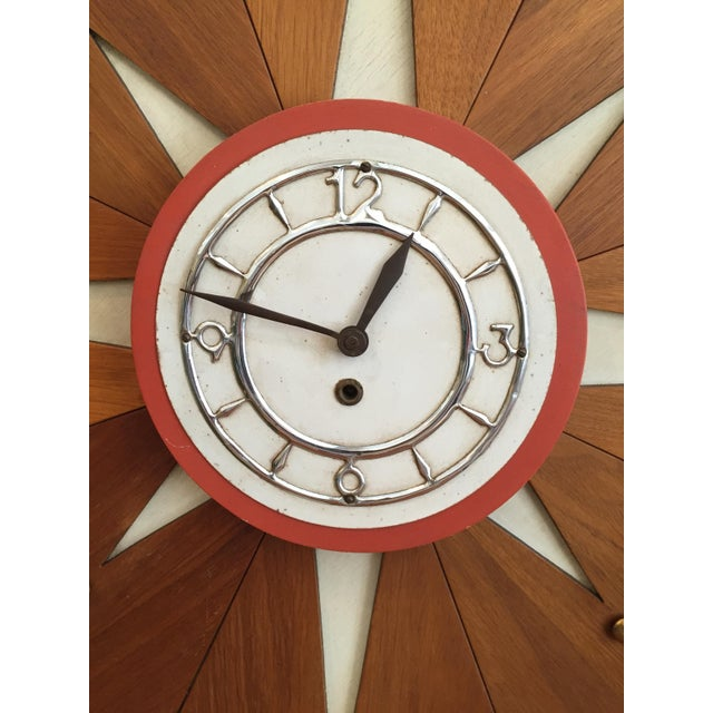mid century modern wall clock key wound chairish