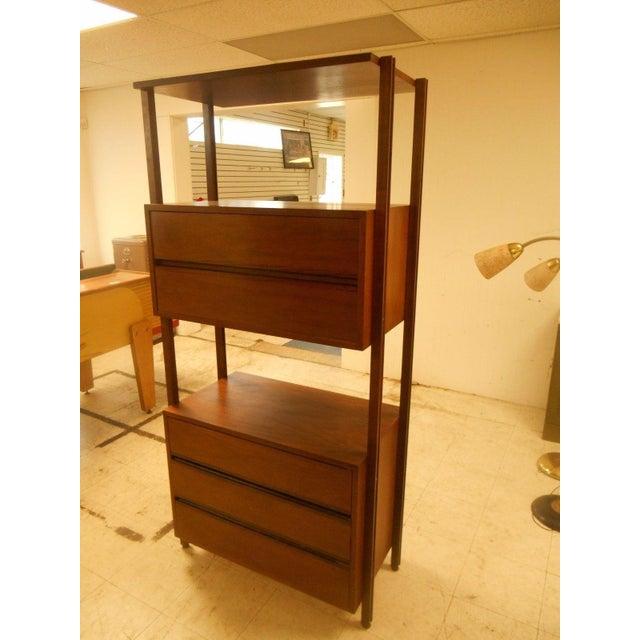stanley danish mid century modern wall unit chairish. Black Bedroom Furniture Sets. Home Design Ideas