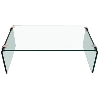 Pace Collection Glass & Nickel Cocktail Table