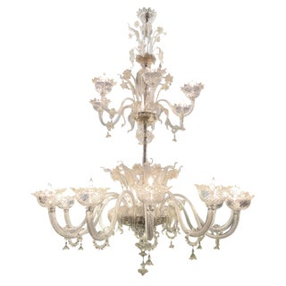 Massive and Superb Quality Murano 1920s, Two Tier Chandelier
