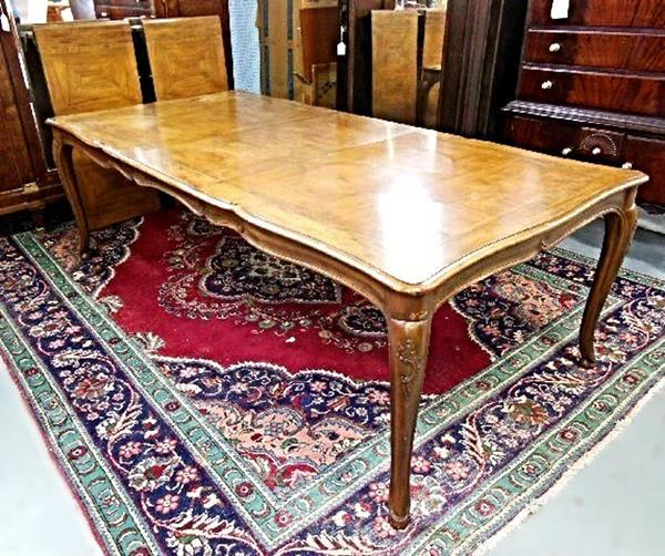 Vintage Baker French Provincial Extension Dining Table   Image 8 Of 8