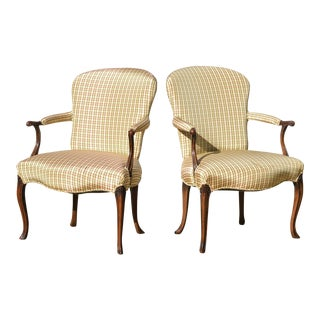 Georgian Style Library Chairs - a Pair
