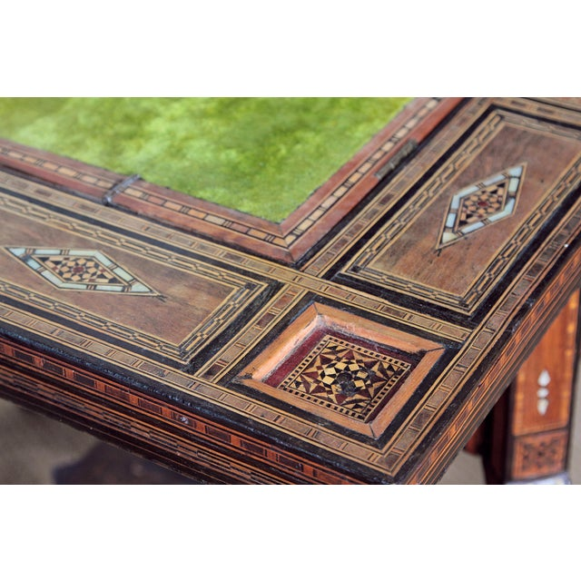 ANTIQUE SYRIAN FOLDING GAMES TABLE - Image 6 of 6