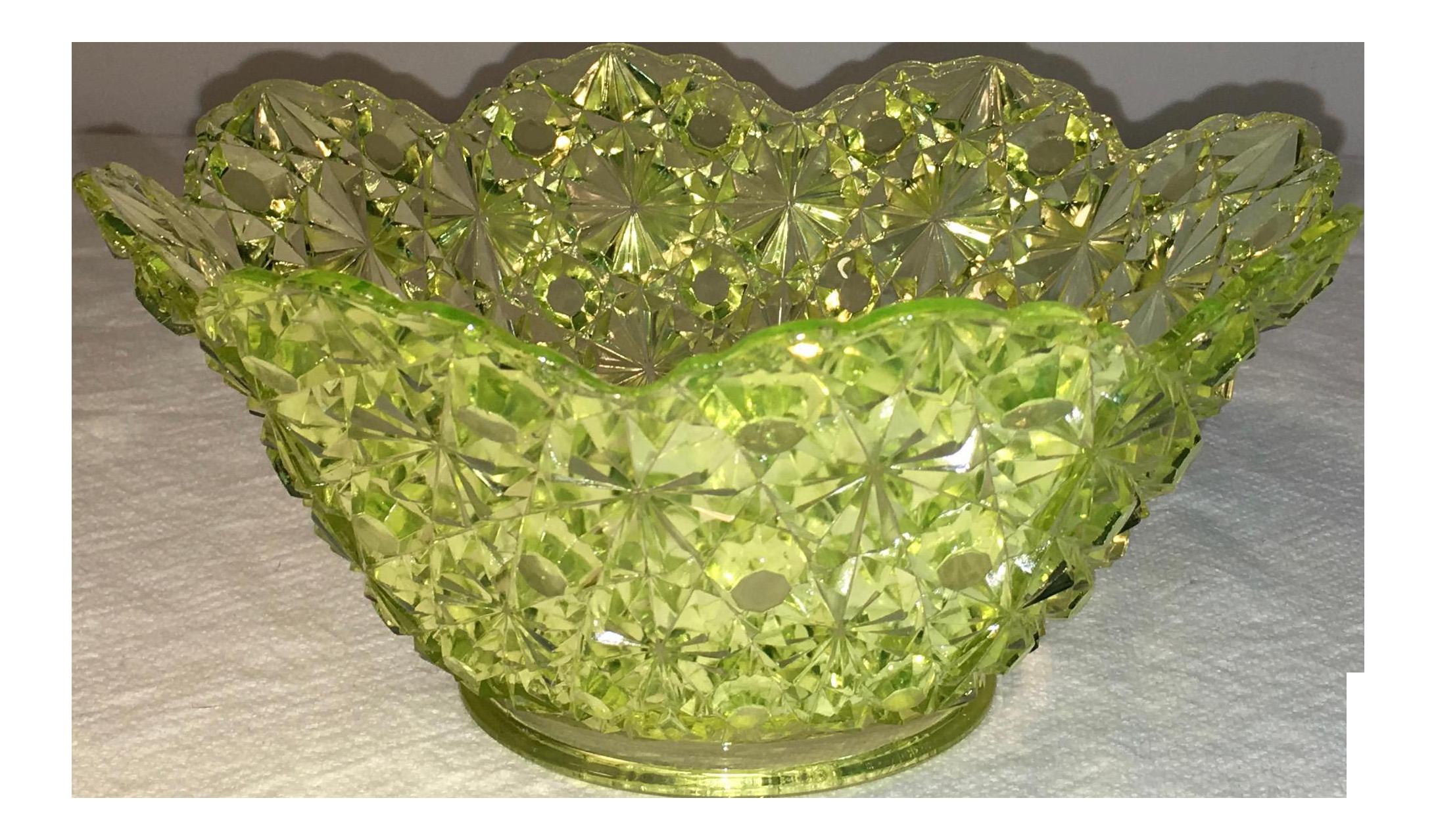 antique vaseline glass lamp shade
