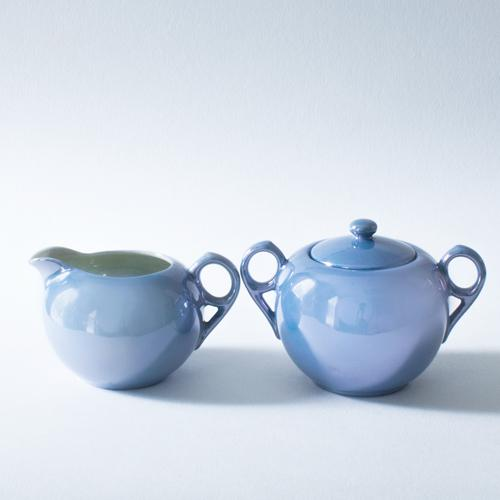 Pearlescent Cream and Sugar Set - Image 2 of 3