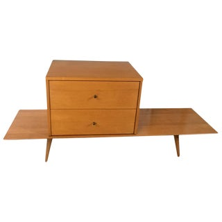 Mid-Century Paul McCobb Maple Bench & Cabinet