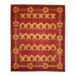 """Arts & Crafts Style Hand Knotted Area Rug - 8'1"""" X 9'10"""""""