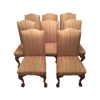 Upholstered Queen Anne Dining Chairs - Set of 8