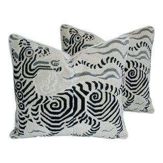 Clarence House Dragon Fabric Pillows - a Pair