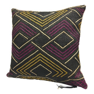 Kuba Cloth Tribal Pillow