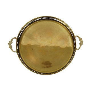 Brass Gallery Tray with Handles