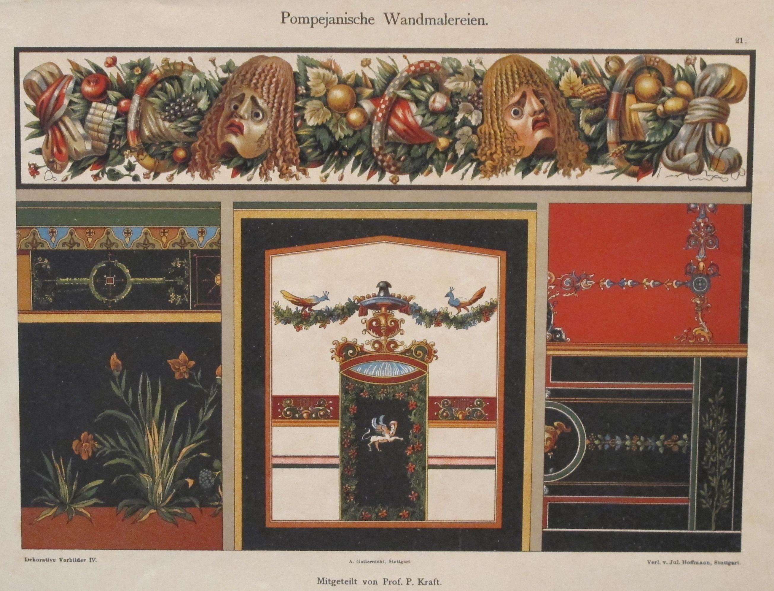 Colourful Decorator Sheet - Gargoyles C.1900 | Chairish