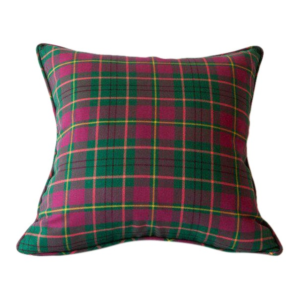 Modern Plaid Pillow : Taylor Modern Tartan Pillow Chairish
