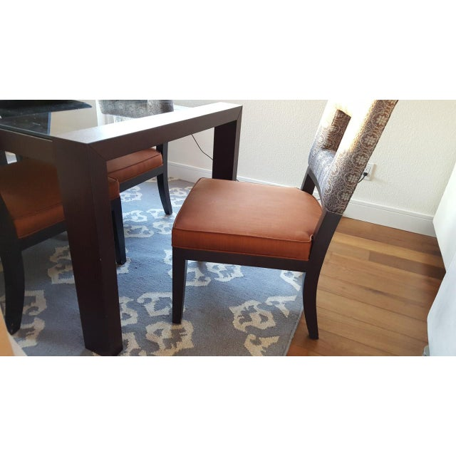 Image of Calligaris Black Glass Dining Table & 6 Dining Chairs