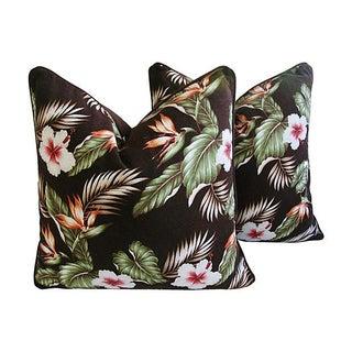 Bird of Paradise & Hibiscus Pillows - Pair