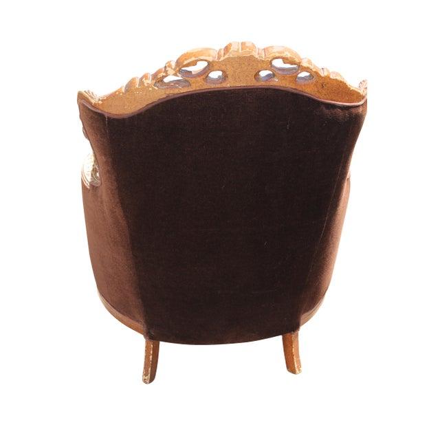 Vintage Mohair Velvet Chair - Image 8 of 10