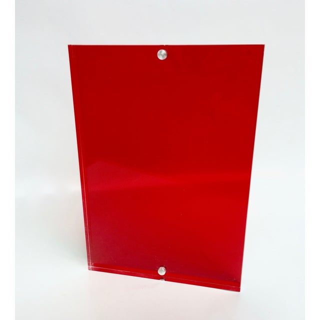 Image of Standing Lucite Photo Frame