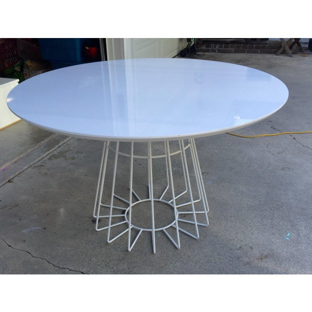 CB2 Ceci Thompson White Compass Dining Table - Image 3 of 5