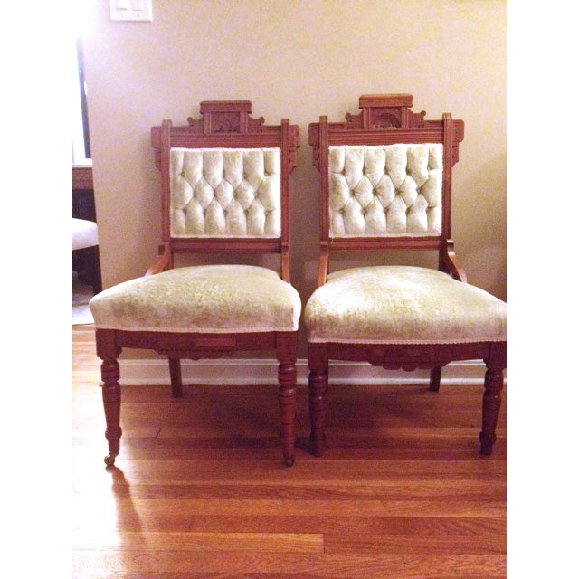 Eastlake Style Victorian Dining Chairs - A Pair - Image 2 of 8