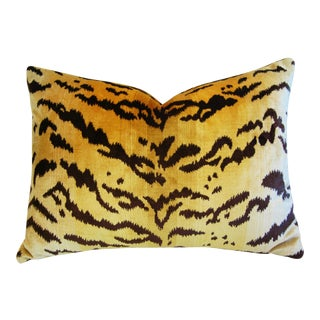 Italian Tiger Stripe & Mohair Pillow