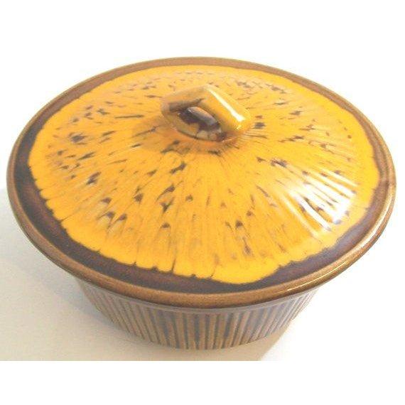Image of California Pottery Drip Glaze Ceramic Baking Dish