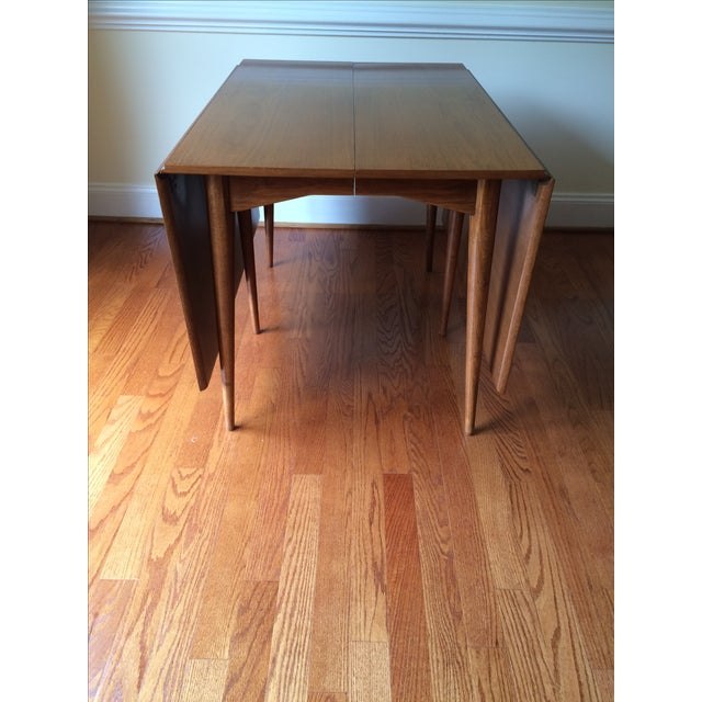 Mid-Century Expandable Drop Leaf Dining Table - Image 5 of 9