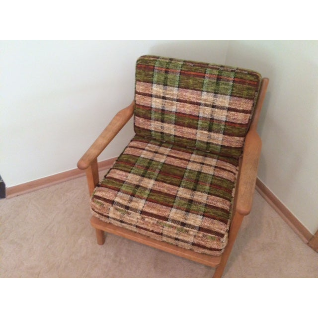 Conant Ball Mid-Century Plaid Lounge Chair - Image 3 of 4