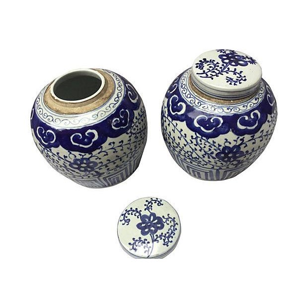 Chinese Hand-Painted Jars - Pair - Image 5 of 5