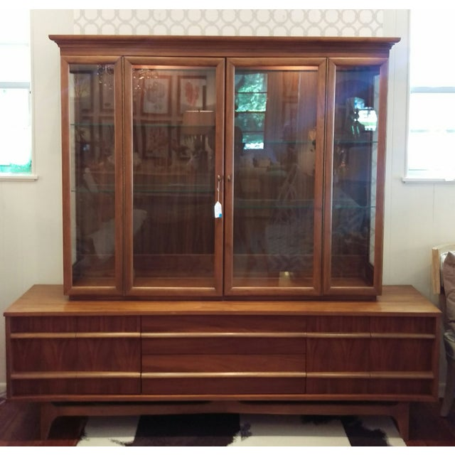 Mid-Century Kagan Style Bowed Front Hutch - Image 2 of 8