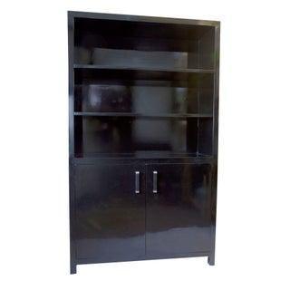 Contemporary Elmwood Book Cabinet