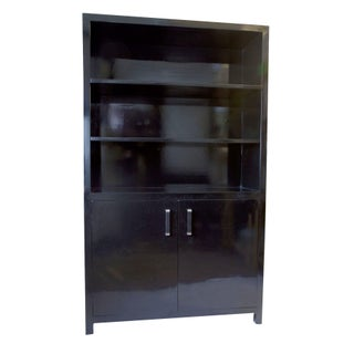 Contemporary Elmwood Book Cabinet