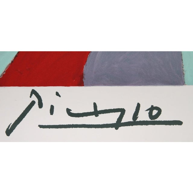 Image of Pablo Picasso - Femme a La Robe Multicolore Litho