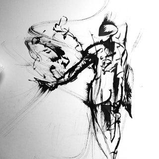 Space Nude Original Ink Drawing