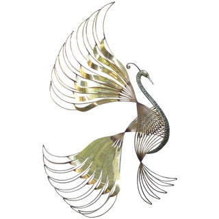 Large Curtis Jere Bird of Paradise Wall Sculpture