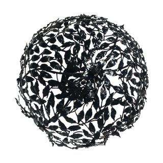 Black Leaf Design Ceiling Light Flush Mount